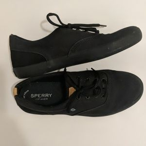 Sperry Shoes - SPERRY TOP-SIDER BLACK CANVAS 5.5